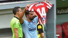 Diego Costa dedicó su gol en el Athletic-Atlético a Virginia Torrecilla. (AFP)