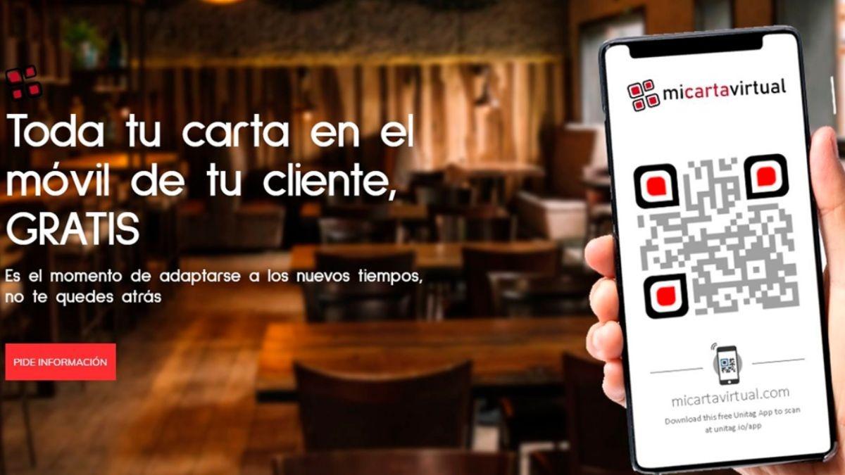 Web para digitalizar las cartas de bares y restaurantes gratis