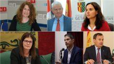 Alcaldes de Alcorcón, San Sebastián de los Reyes, Getafe, Móstoles, Alcalá de Henares y Coslada.