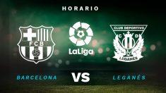 Barcelona – Leganés: partido de la jornada 29 de la Liga Santander.