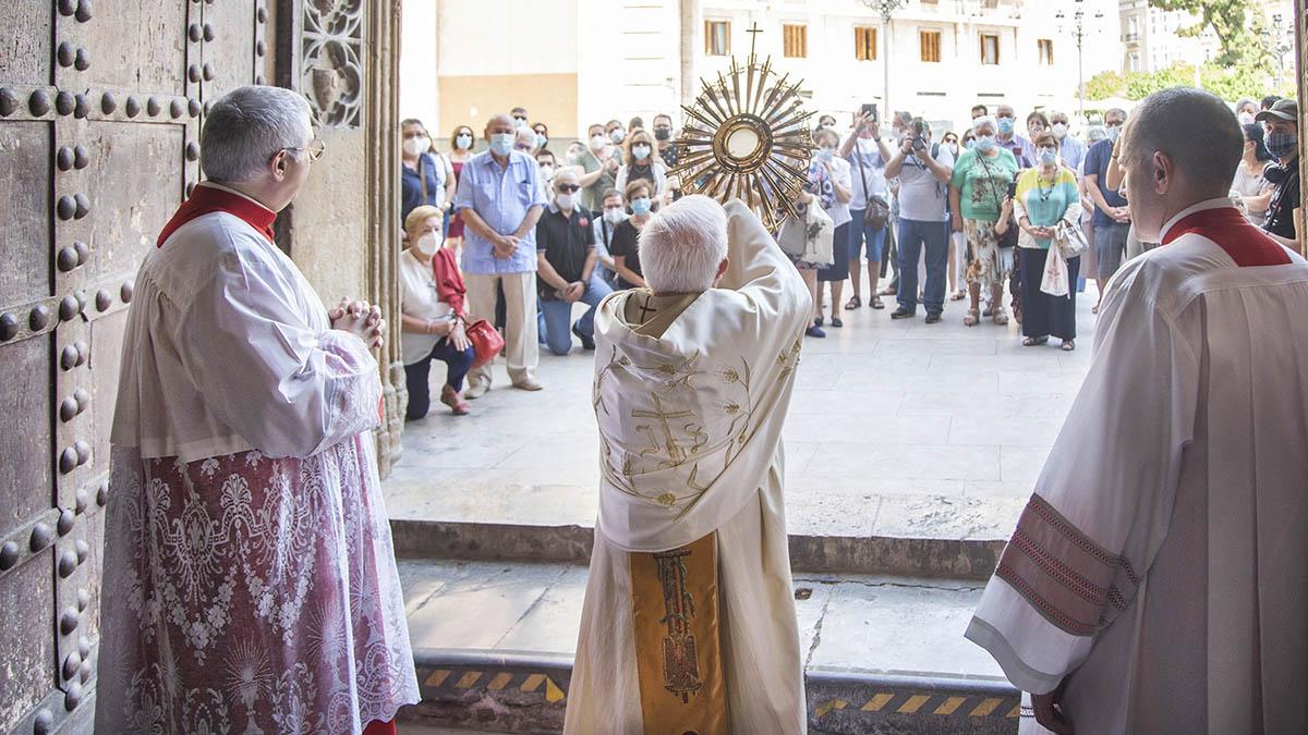 Monseñor Cañizares durante la homilía de ayer.