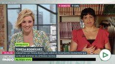 Teresa Rodríguez admite en la Sexta que quiere retirar las estatuas de Colón.