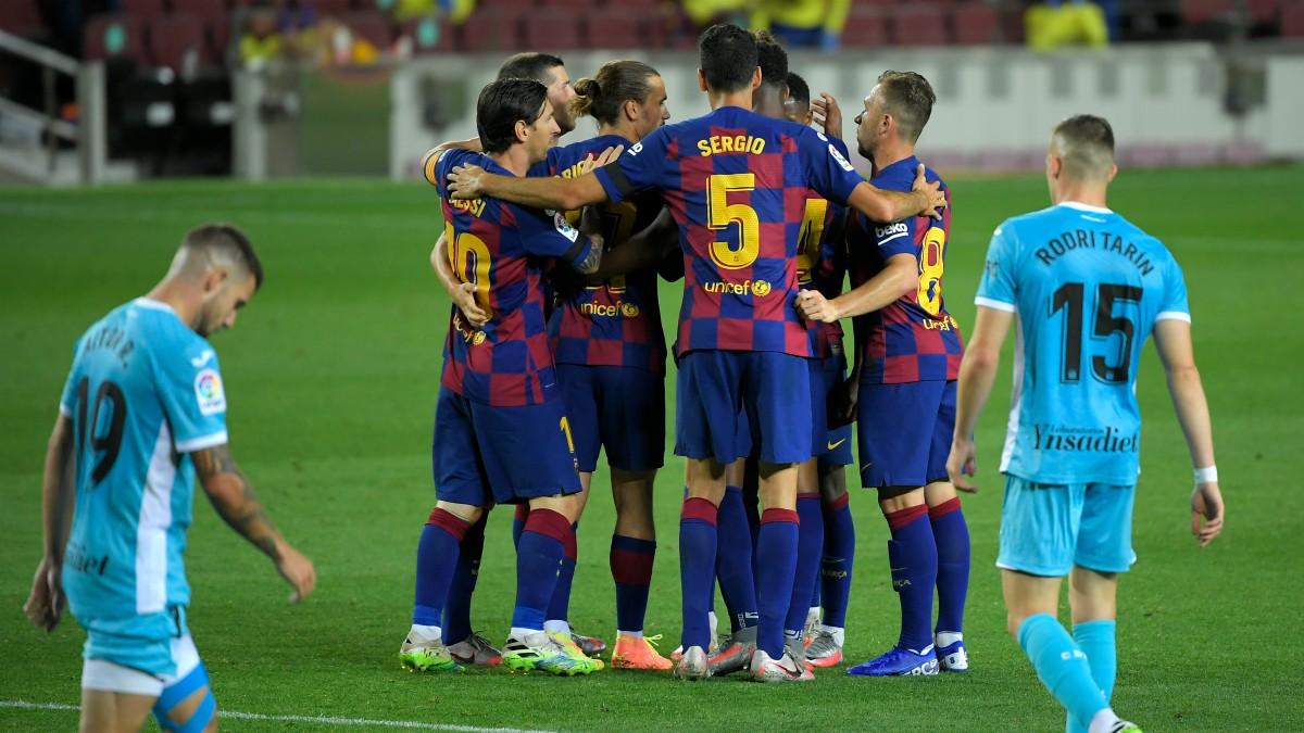 El Barcelona venció al Leganés y mete presión al Real Madrid. (AFP)