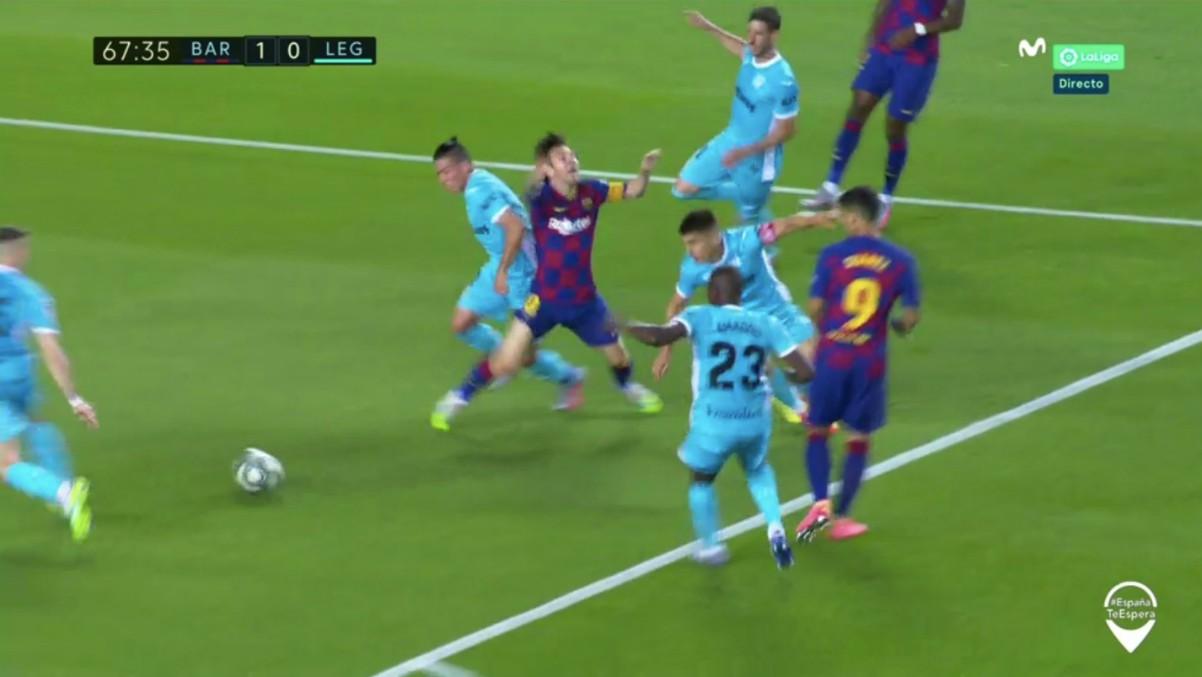 Martínez Munuera señaló un penalti a favor del Barcelona ante el Leganés.