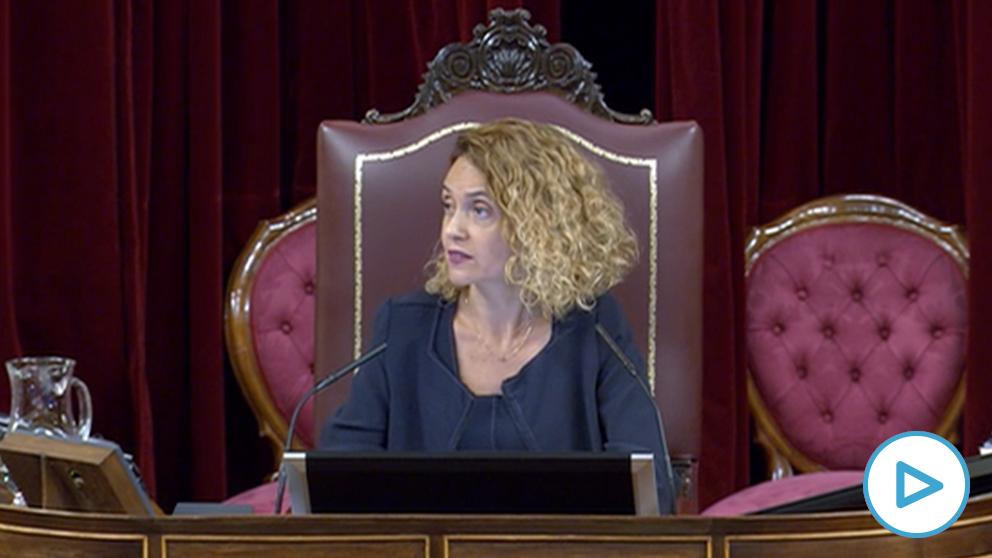 La presidenta del Congreso, la socialista Mertixell Batet, este martes en el hemiciclo.