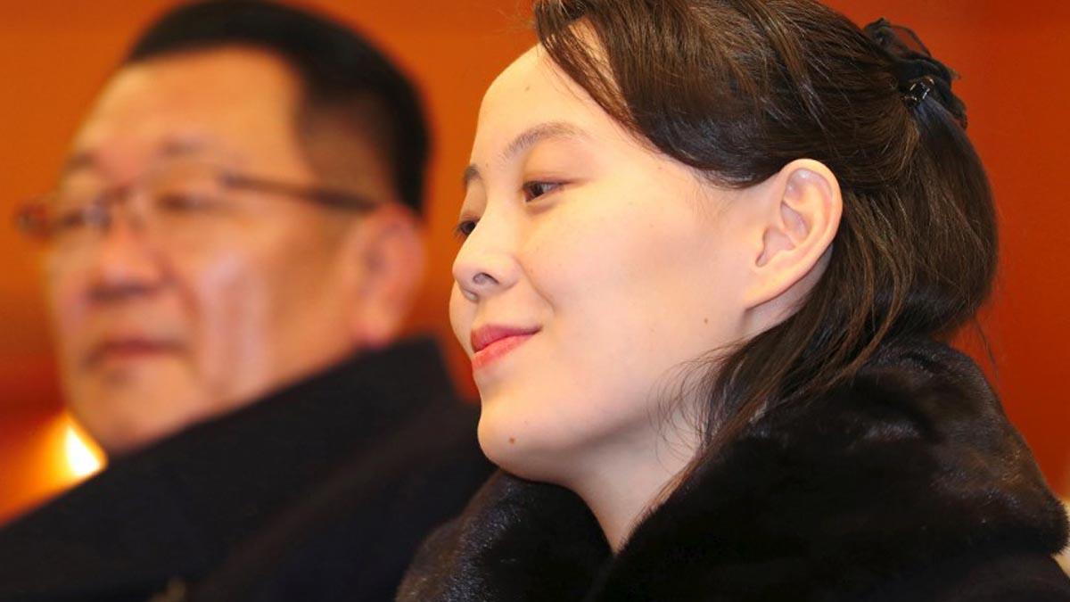 Kim Yo-jong, hermana del actual líder de Corea del Norte, Kim Yong-un. Foto: AFP