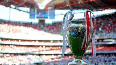 El trofeo de la Champions League en el Estadio da Luz de Lisboa. (Getty)