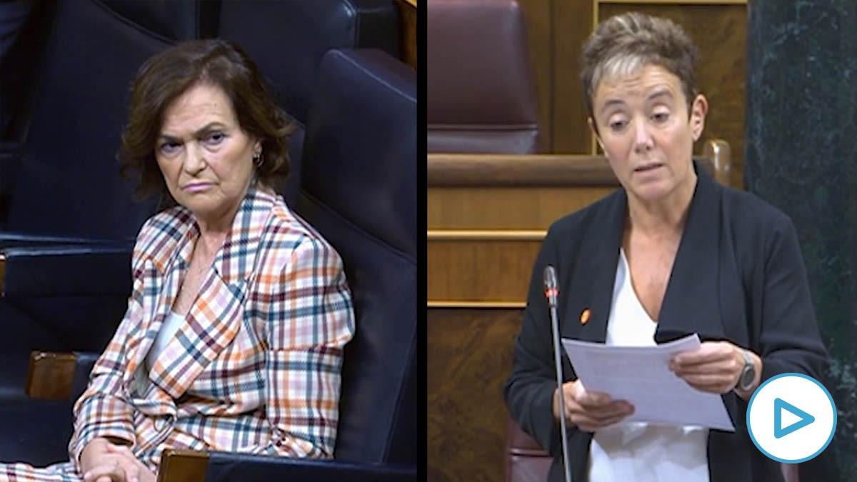 Carmen Calvo evita defender a Felipe González tras acusarle Bildu de ser «el señor X» de los GAL.