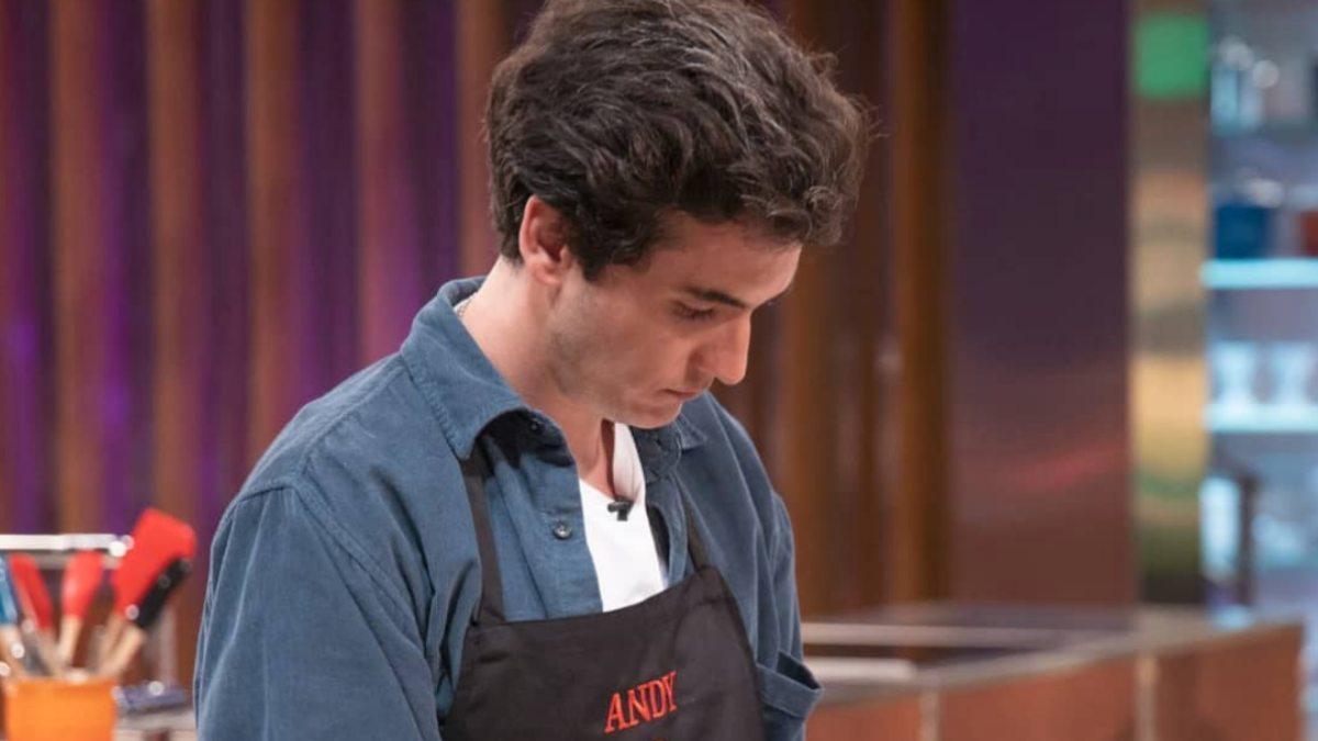 Andy en un prueba de 'MasterChef'