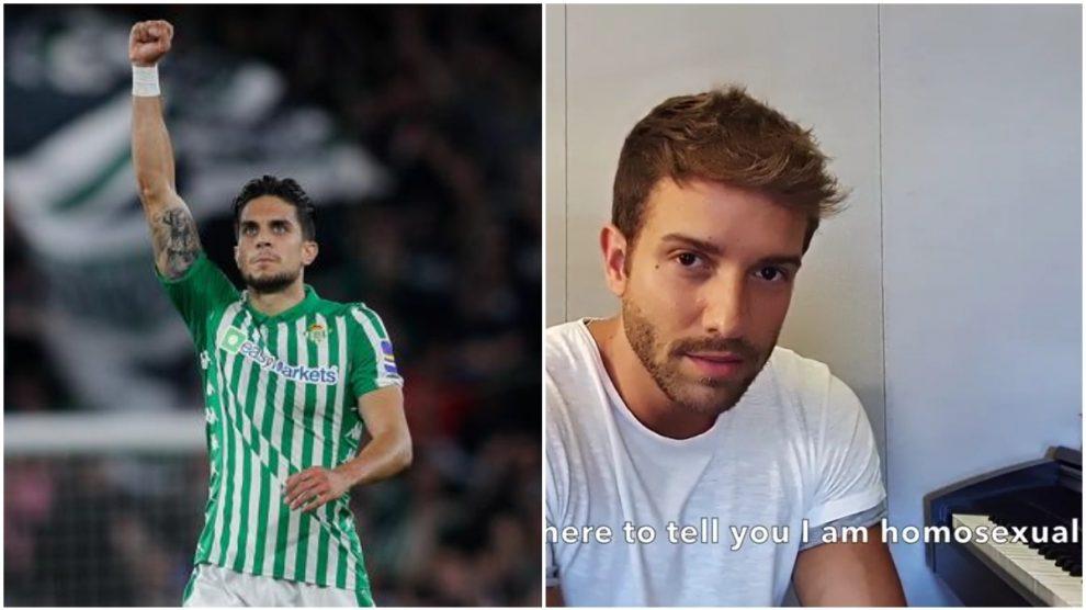 Marc Bartra y Pablo Alborán en su vídeo.