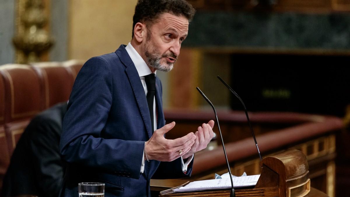 El portavoz adjunto de Ciudadanos en el Congreso de los Diputados, Edmundo Bal, interviniendo desde la tribuna de la Cámara Baja. (Pool)