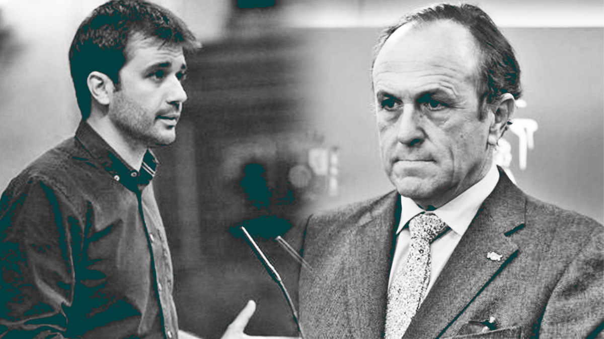 Javier Sánchez Serna, de Podemos (izq.) y Luis Gestoso, de Vox.