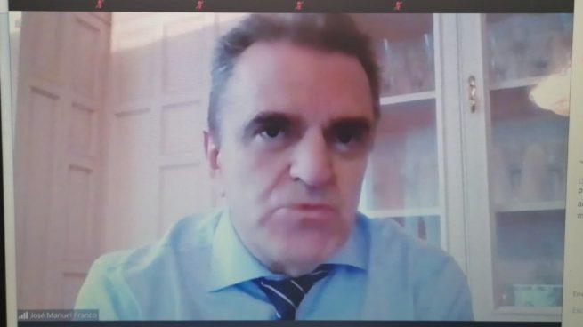 José Manuel Franco en un momento de la charla telemática.