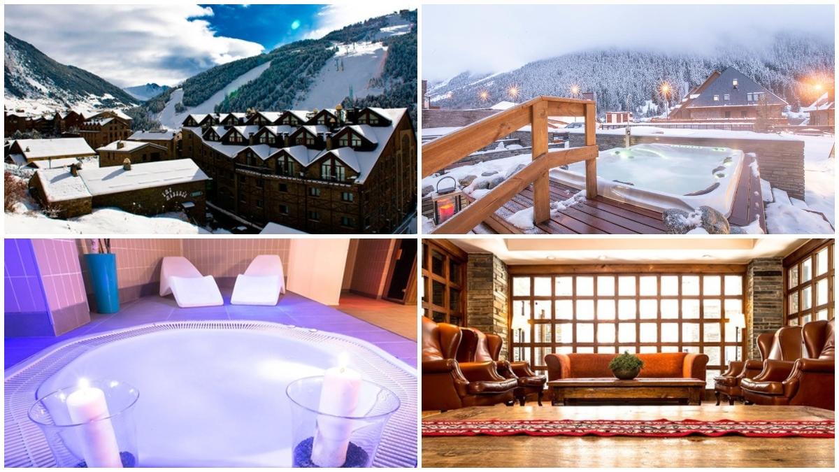 Cuatro imágenes del Hotel Himalaia.