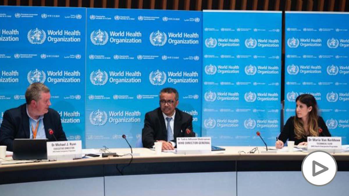 El director general de la Organización Mundial de la Salud, Tedros Adhanom Ghebreyesus, comparece en rueda de prensa para informar sobre la evolución de la pandemia de coronavirus. 18 de marzo de 2020. – OMS