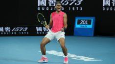 Rafa Nadal celebra un punto ante Kyrgios en Australia. (Getty)
