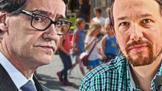 Salvador Illa y Pablo Iglesias