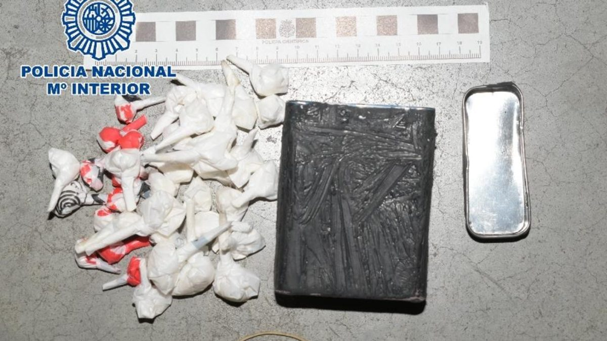 Operación contra el tráfico de drogas en Madrid