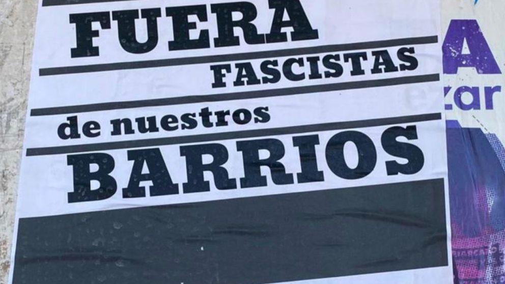 Cartel colgado por el PCE en Sevilla.