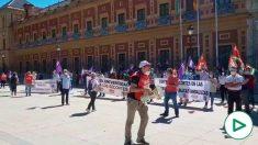 Manifestación de CCOO este miércoles en Sevilla.