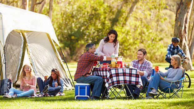 camping con los niños