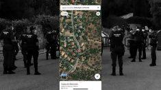 Aspecto de Google Maps en las inmediaciones de la casa de Pablo Iglesias e Irene Montero.