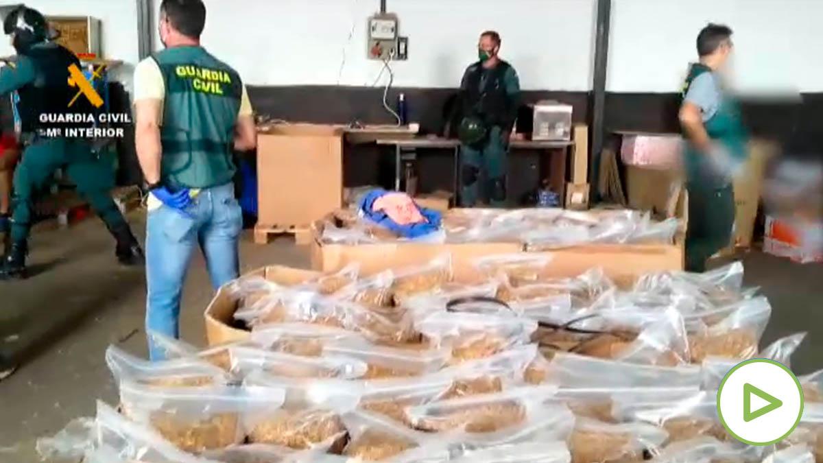 Guardia Civil aprehende 34.800 kilos de picadura de tabaco de contrabando