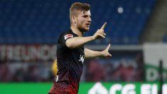 Timo Werner celebra un gol con el RB Leipzig. (Getty)