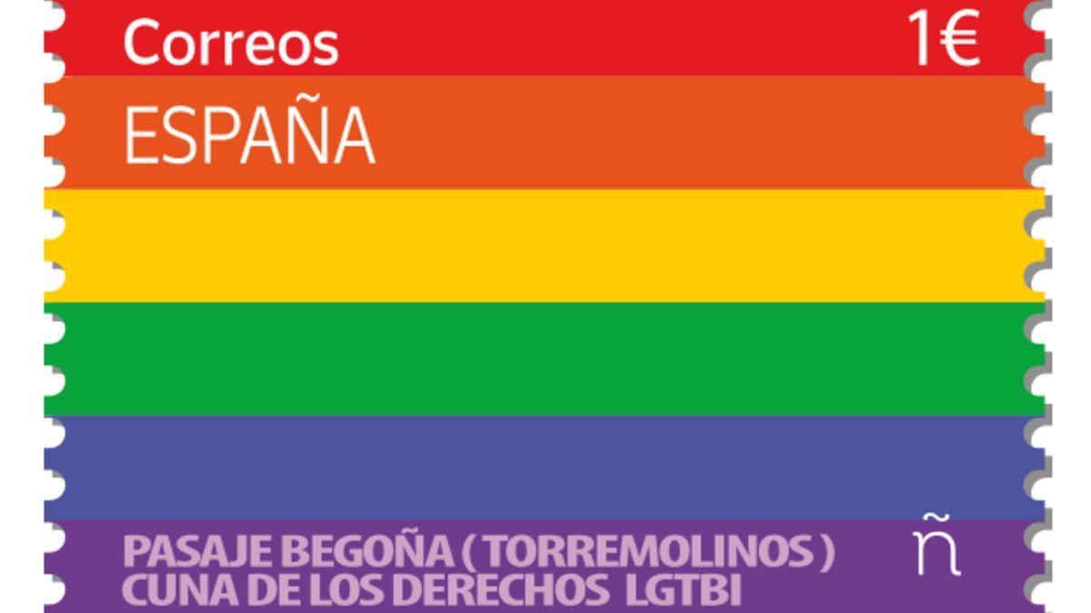 El sello que Correos ha lanzado para celebrar el Día del Orgullo Gay