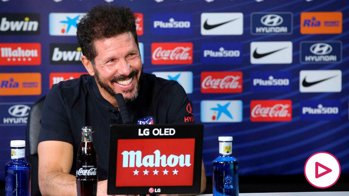 Diego Simeone en rueda de prensa. (EFE)