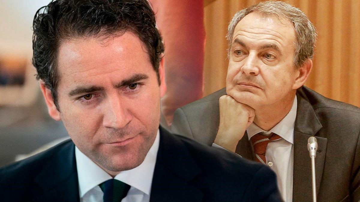 Teodoro García Egea y José Luis Rodríguez Zapatero.