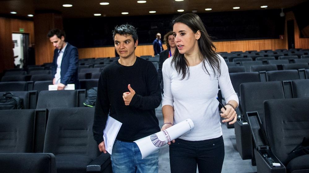 Irene Montero recientemente en el Congreso. (Foto. Podemos)