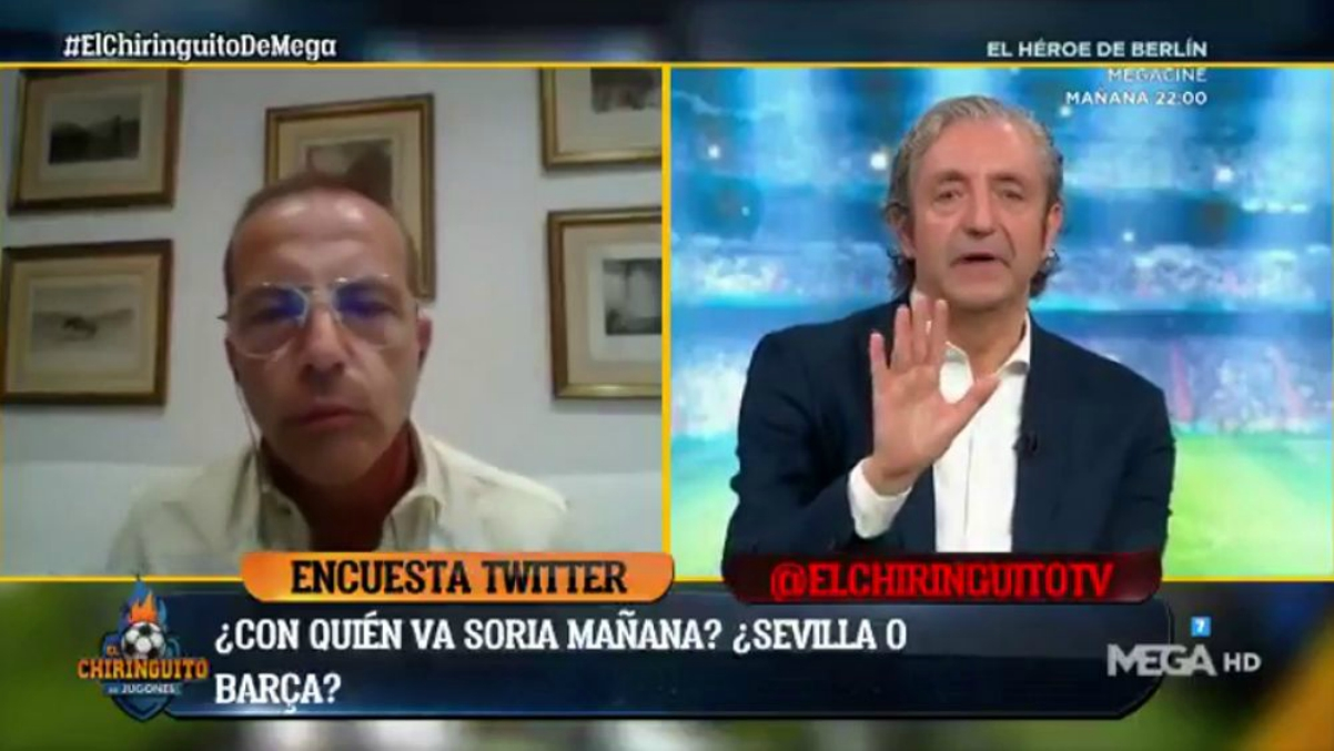 A Cristóbal Soria no le gustó la encuesta.
