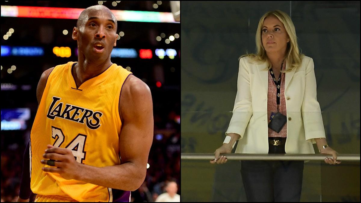 Kobe Bryant y Jeanie Buss. (Fotos: Getty)