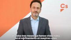 El portavoz adjunto de Cs en el Congreso, Edmundo Bal, en una imagen del vídeo en el que el partido hace balance del estado de alarma.