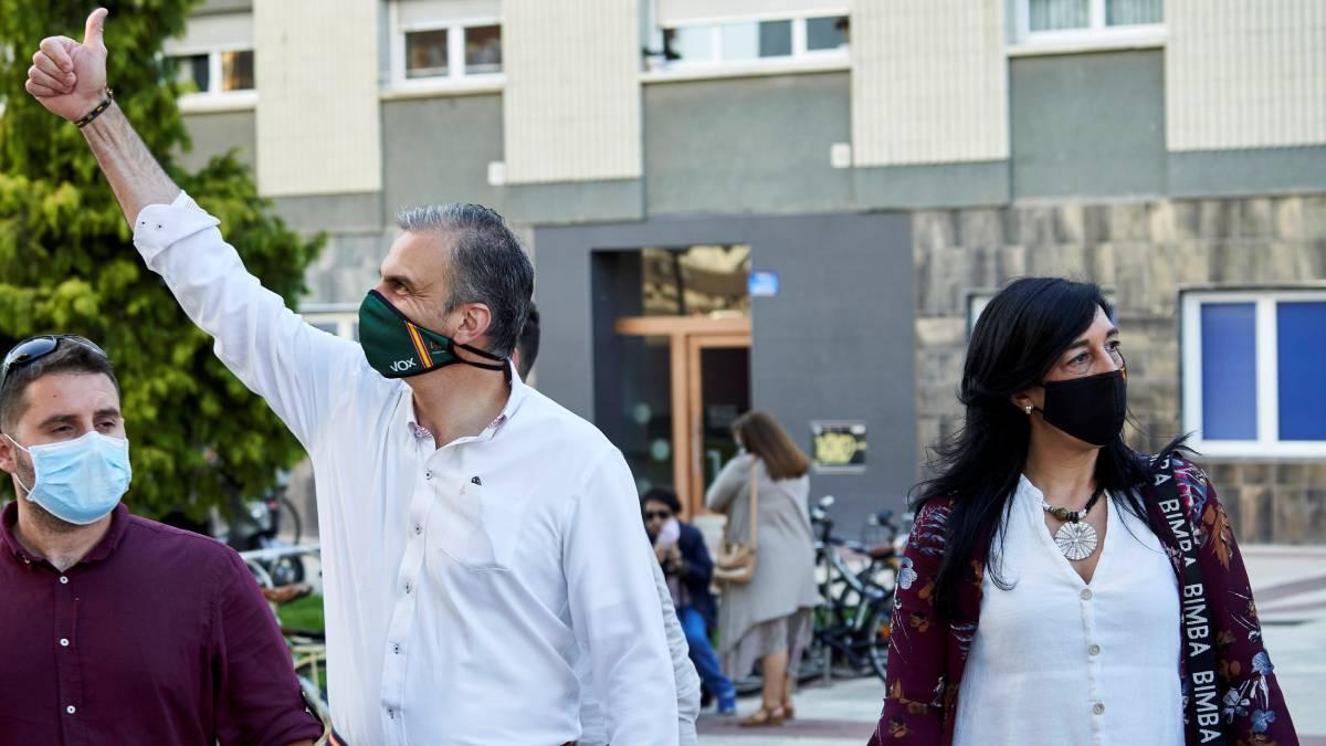 Ortega Smith durante la precampaña en el País Vasco (FOTO: EFE)