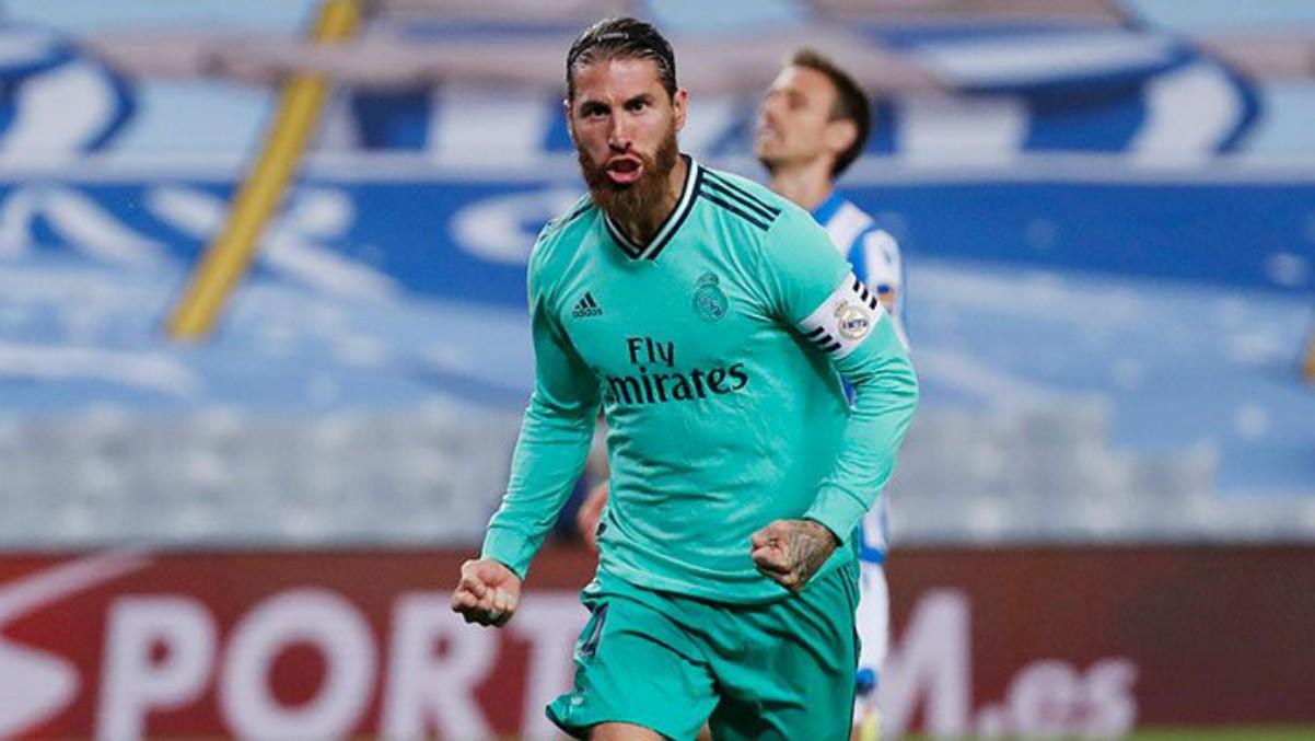 Sergio Ramos celebra un gol. (Realmadrid.com)