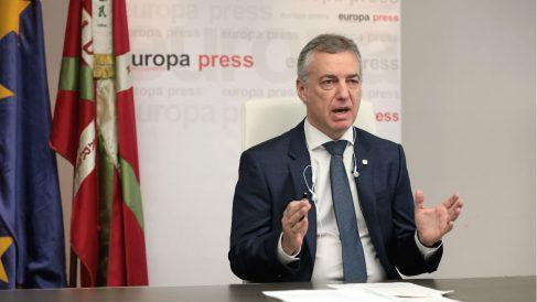 El lehendaki del Gobierno Vasco, Iñigo Urkullu, durante uno de los encuentros digitales de Europa Press, en Vitoria, Álava, País Vasco (España). (Foto: Europa Press)