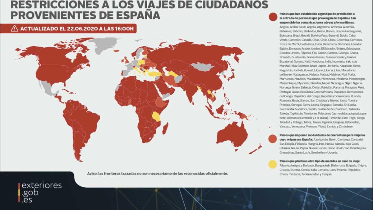 La imagen de España tras la gestión de Sánchez del covid: más de 150 países vetan a los españoles, según Exteriores