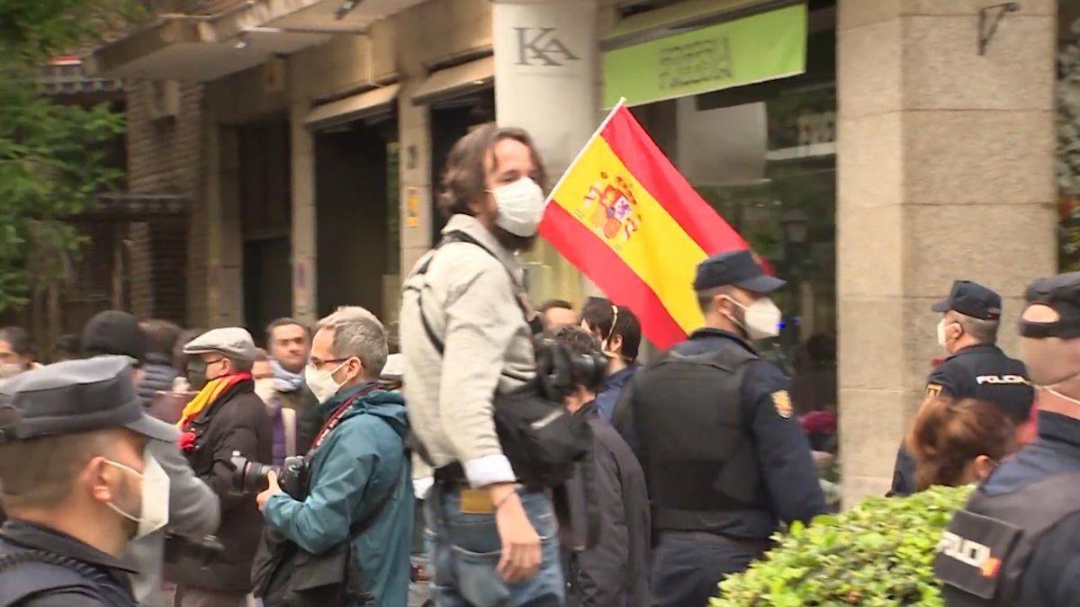 Las manifestaciones de la calle Núñez de Balboa en Madrid.