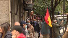 Una de las protestas en la madrilela calle de Núñez de Balboa.