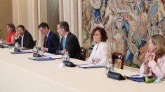 El rey, Felipe Vl, presidiendo este lunes el Consejo de Seguridad Nacional