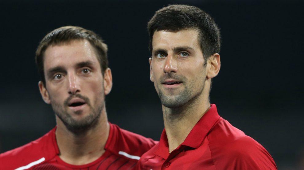 Troicki y Djokovic, durante un partido. (Getty)