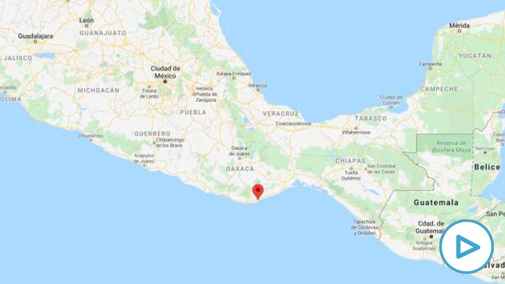 Terremoto en la localidad de Crucecita (México)