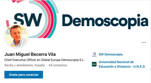 Captura del Linkedin de Juan Miguel Becerra Vila.