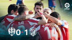 El Atlético de Madrid celebra un gol frente al Levante.