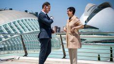 Los ministros de Exteriores de España y Alemania, Arancha González Laya y Heiko Maas, en Valencia para hablar de turismo y coronavirus. 23-julio-2020