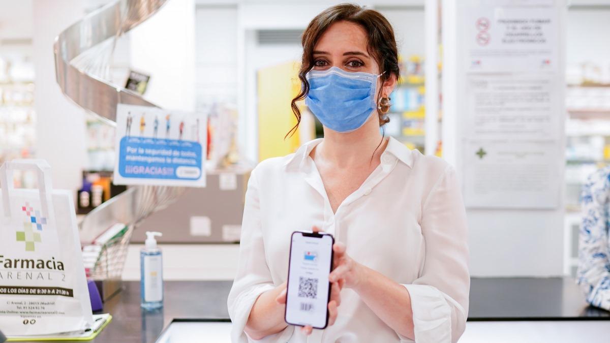 Díaz Ayuso ha presentado esta mañana la nueva tarjeta sanitaria virtual para los madrileños
