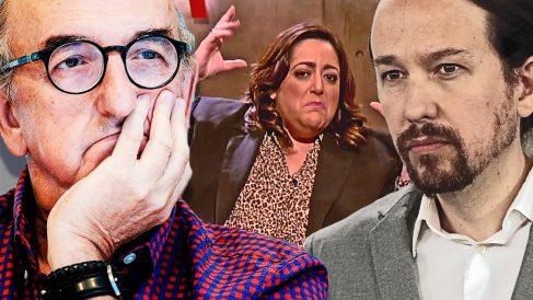 Jaume Roures, Patricia López y Pablo Iglesias