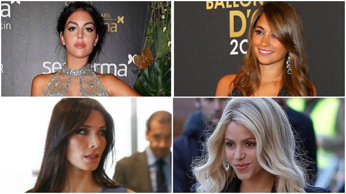 Cuatro de las mujeres de futbolistas más seguidas en Instagram.